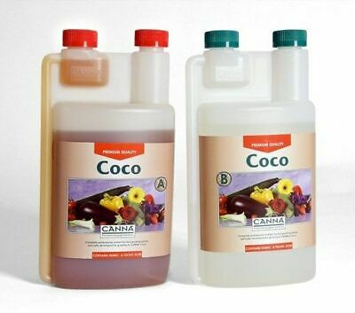 Hydroponics Canna Coco A+B 1 Litre Veg And Flower Plant Food Base Nutrients