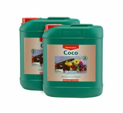 Hydroponics Canna Coco A+B 5 Litre Veg And Flower Plant Food Base Nutrients