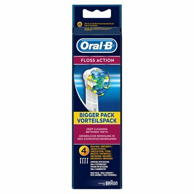 Oral-B Floss Action Replacement Electric Toothbrush Heads x4 GENUINE