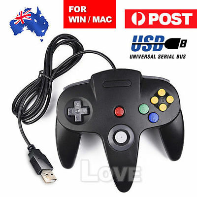 New For NINTENDO 64 N64 GAMES CLASSIC GAMEPAD CONTROLLERS FOR USB TO PC / MAC AU
