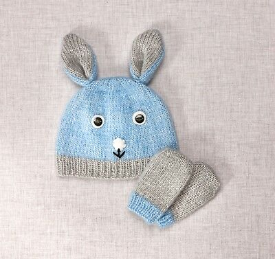 Twilleys - Knitting Kit - Rabbit Hat & Mitts - Blue - 2898/4037
