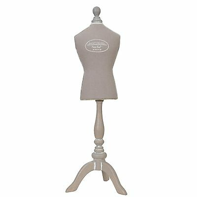 Clayre & Eef Bust Tailoring Doll Jewelry Stand Tailor's Bust Cottage shabby75cm