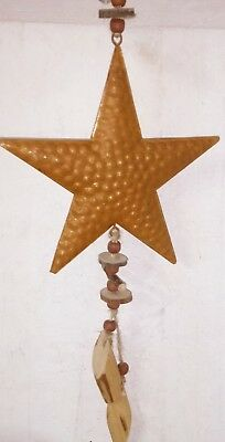 Patina Star Garland Cottage Metal Deco Rust 17cmx43cm Brown Wood Decode