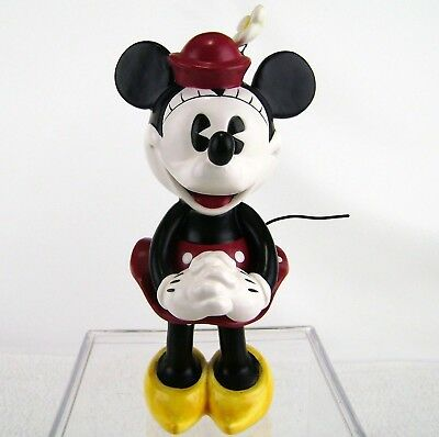 "Minnie Mouse Pie Eyed Ceramic Enesco Figurine Statue 6.5"" Red Polka Dot Disney"
