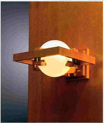 Robie 1 Wall Sconce, Frank Lloyd Wright authorized reproduction