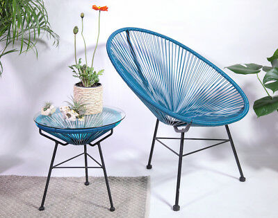 retro acapulco stuhl chair sessel rattan garten indoor outdoor rainbow bunt eur 99 00. Black Bedroom Furniture Sets. Home Design Ideas