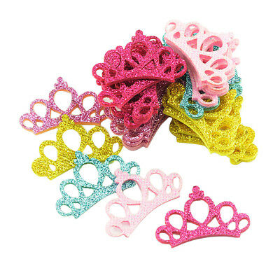 30 Pcs Assorted Color Kids Sequins Crown for Hair Clips Girls Hair Ornaments