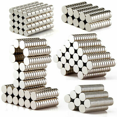 1/50/100X Strong Cylinder Round Rare Earth Neodymium N35 Tiny Disc Magnets Set