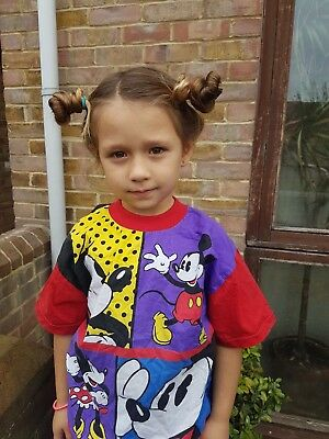 Vintage Kids Mickey Mouse Retro Disney 90s Graphic T Shirt Top 4-5 Y
