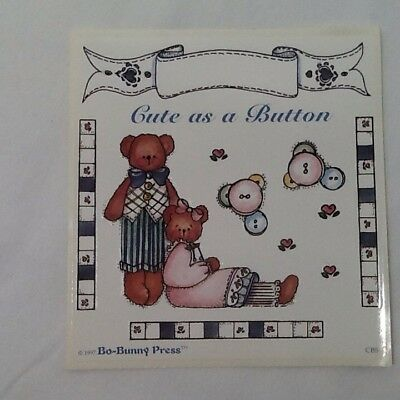 Bears Buttons  SCRAPBOOKING Stickers By Bo-Bunny Press A80