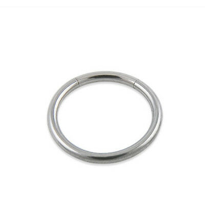 1Pcs Surgical Steel Segment Hoop Ring Lip Nose Eyebrow Belly Nipple Silver