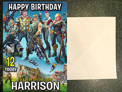 Personalised Fortnite Birthday Card any name/age/relation