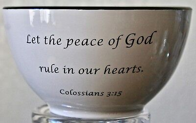 Coventry Daily Blessings 6 In Mixing Bowl Colossians 3:15 Porcelain New