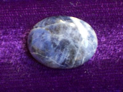 POLISHED SODALITE OVAL GEMSTONE CABOCHON -- 15 mm x 20 mm