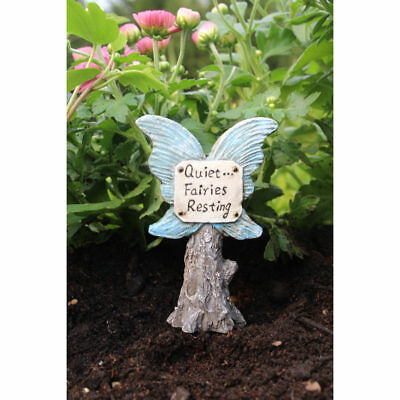 Miniature Dollhouse FAIRY GARDEN - Quiet Sign - Accessories