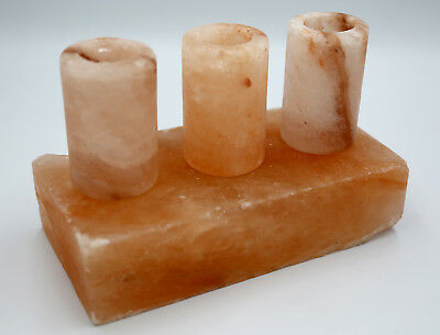 MOGUL Himalayan Pink Salt Shot Glasses 100% RockSalt Carved Direct From Our Mine