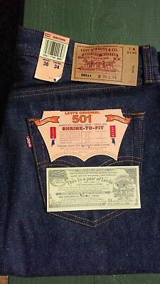 Vintage 1993 Levi 501XX, Shrink to fit, made in USA