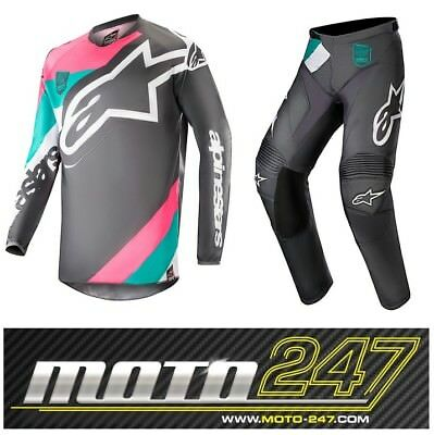 Alpinestars Racer Limited Edition Indy Vice Adult Motocross Mx Kit Black / Pink