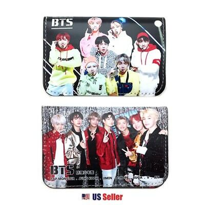 KPOP BangTan Boys BTS Faux Leather Card Holder Wallet : Type C