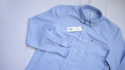 Lacoste Casual Shirt Mens Long Sleeve Top Size 39 S Small Medium OXFORD DEVANLAY
