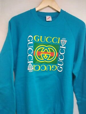 Vintage Bootleg Gucci Deadstock size Large Hot Teal