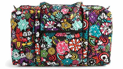 NWT Vera Bradley Large Duffel Bag in Disney Parks Magical Blooms Mickey Mouse