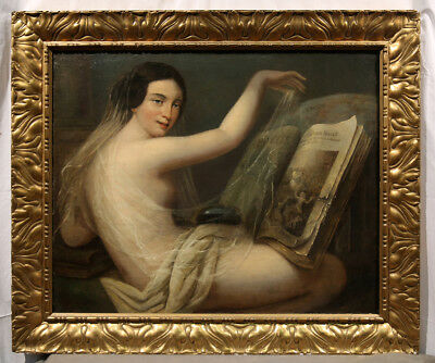 19th Century Nude Woman Reading, possibly Jean Auguste Dominique Ingres (FRENCH)