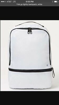 Lululemon Go Lightly Backpack, NWT, White, Mint Condition