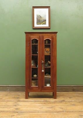 Colonial Wooden Glazed Display Cabinet Collectors Small Curio Cabinet