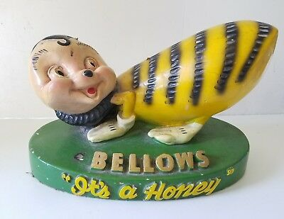 Rare Whisky Advertising Display Bellows & Company Baltimore Maryland Honey Bee