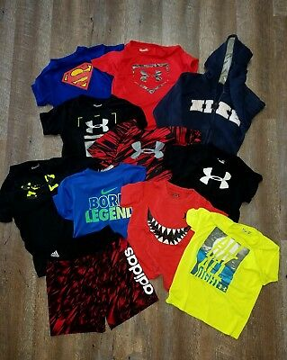 Boys 4T Spring/Summer Lot Under Armour Nike Hurley Adidas lot!!