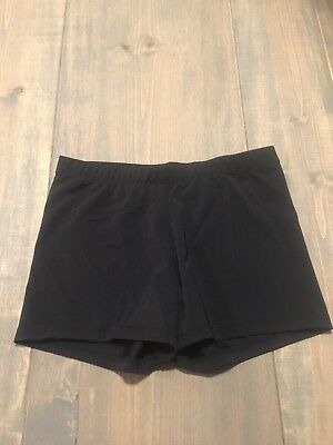 Gia-Mia Girl's Youth Black Lycra Shorts Gymnastic-Dance Size: M Made In USA