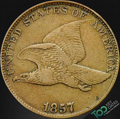 1857  1¢ Flying Eagle Cent ~ Vf Very Fine ~ #2016Fou3