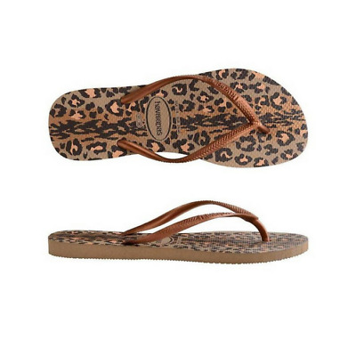 Womens  Havaianas Slim Animals Rose Gold Dark Copper Sandals