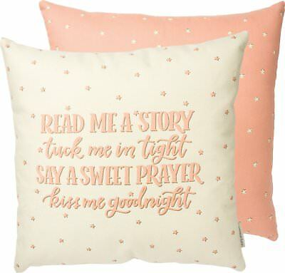 Read Me A Story Pink Pillow Insert Included