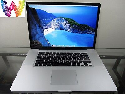 Apple MacBook Pro 17 INTEL CORE PRE-RETINA UPGRADED 8GB RAM 1TB SSD HYBRID ~