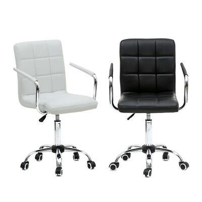 Office Executive Chair PU Leather Mid-back Adjustable Computer Desk Seat Swivel