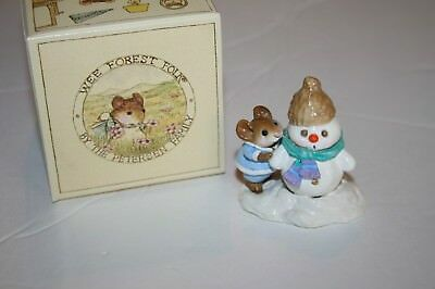 Wee Forest Folk M188 SNOW BUDDIES Mice WFF mouse 1992 miniature snowman