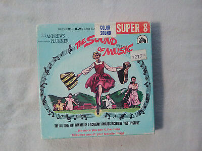 """Vintage Genuine 1970's """"The Sound Of Music"""" Super 8 Color Sound Film *AS NEW*"""