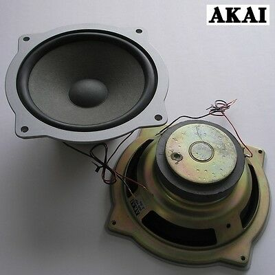 """vintage AKAI 8"""" woofers with heavy magnets, rubber surrounds—Japan c.1975—superb"""