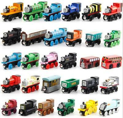 Thomas and His Friends Wooden Train Model Toy with Magnetic for Boys Kids Child