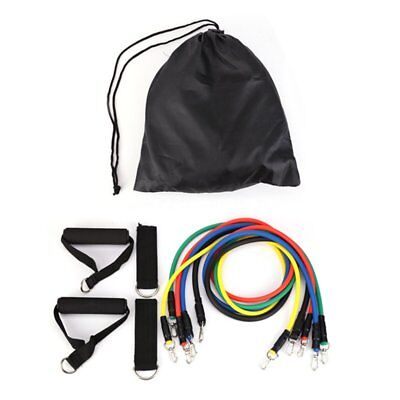 11 Pcs/Set Pull Rope Fitness Exercises Resistance Bands Crossfit TPR Tubes Pb