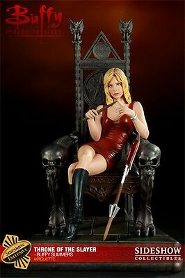 SIDESHOW EXCLUSIVE BUFFY THE VAMPIRE SLAYER Throne of Slayer MAQUETTE STATUE .