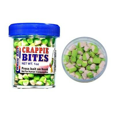 Lot 3 Magic Catfish MAGIC-WH/CHT Crappie 1 oz White/Chartreuse Fishing Bait