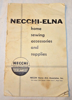 Necchi-Elna Sewing Catalog Vintage
