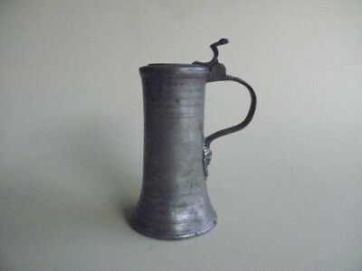 17th Century Decorated  Austrian Pewter Tankard with Touchmarks