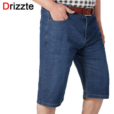 597d53981b9 Drizzte Men Big Size 42 44 46 48 50 52 Jeans Summer Thin Drak Blue Shorts