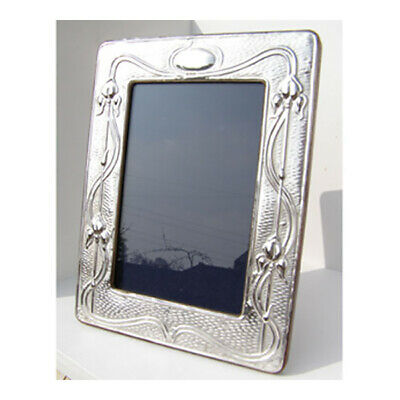 Silver Picture Frame. Hallmarked Sterling Silver Arts & Crafts Style Photo Frame