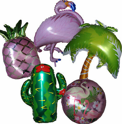 PINK FLAMINGO PINEAPPLE CACTUS COCONUT TREE BALLOON TROPICAL 21st BIRTHDAY PARTY