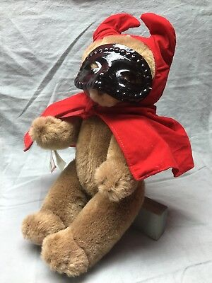 Schmid Musical Teddy Bear Gordon Fraser Jointed Brown Plush Wind Up 1984 14""